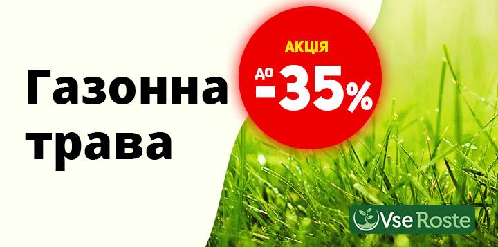 Знижка на газонну траву до 35%