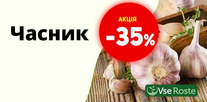 Знижка на Часник - 35%